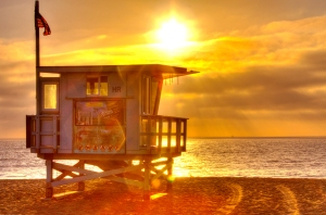 Life Guard Hut - Redondo Beach - Mike Hope