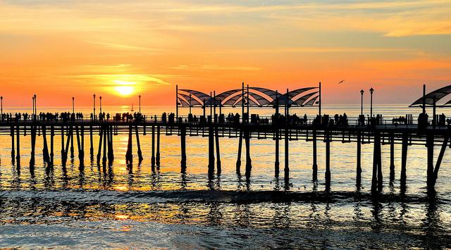 Redondo Beach Pier Sunset by Mike-Hope
