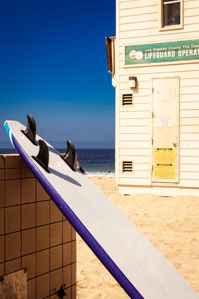 Surf Board Redondo Beach near to the Life Guard Hut