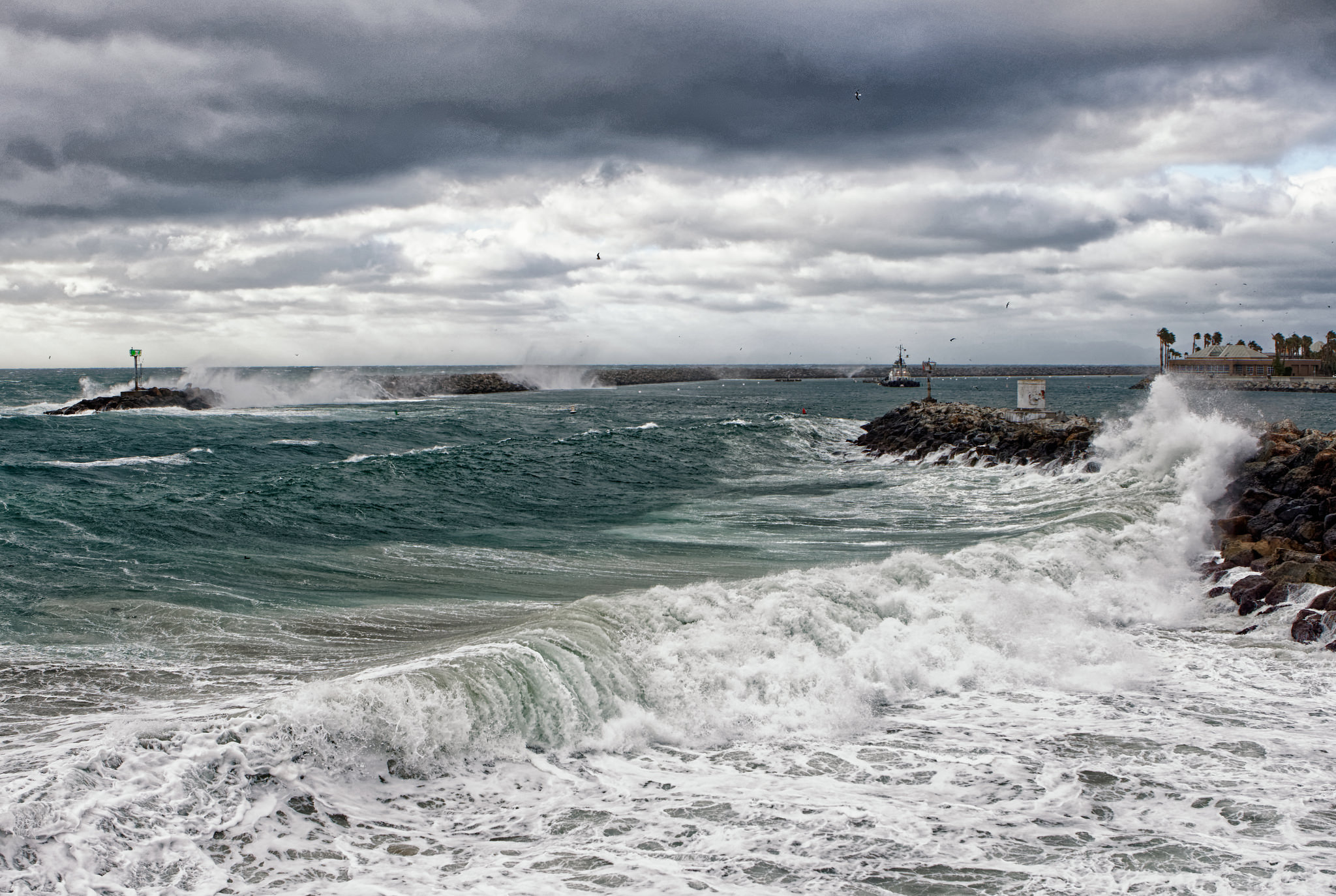 Stormy Redondo Harbor by Mike-Hope