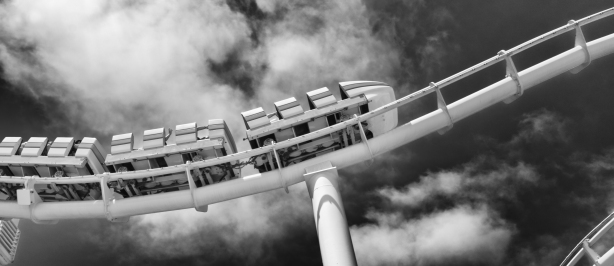 roller-coaster-in-bw-red-filter-by-mike-hope