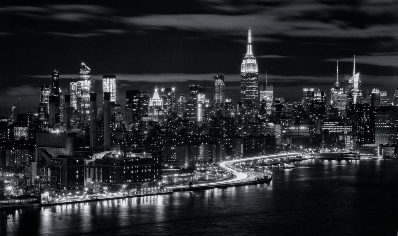 Manhattan-Skyline-B&W-by-Mike-Hope